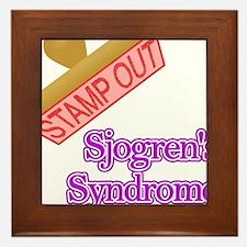 Sjogrens Syndrome Framed Tile