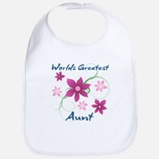 World's Greatest Aunt (Flowery) Bib