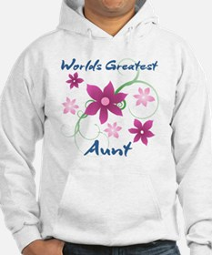 World's Greatest Aunt (Flowery) Hoodie