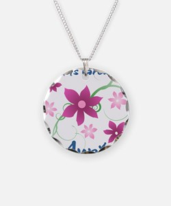 World's Greatest Aunt (Flowe Necklace Circle Charm