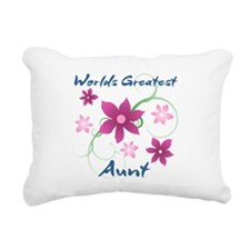 World's Greatest Aunt (F Rectangular Canvas Pillow