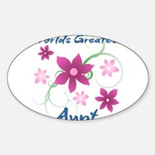 World's Greatest Aunt (Flowery) Decal