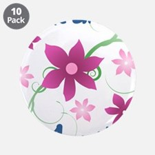 """World's Greatest Aunt (Flowe 3.5"""" Button (10 pack)"""