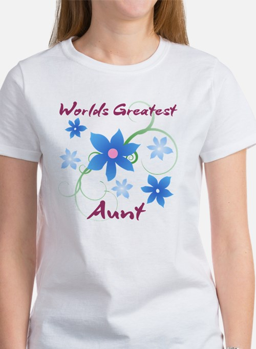 World's Greatest Aunt (Flowery) Women's T-Shirt
