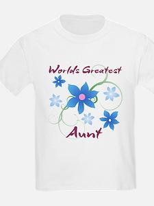 World's Greatest Aunt (Flowery) T-Shirt