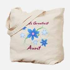 World's Greatest Aunt (Flowery) Tote Bag