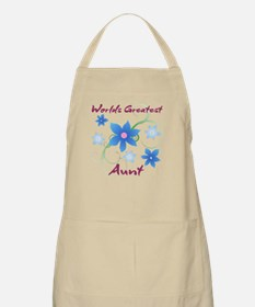 World's Greatest Aunt (Flowery) Apron