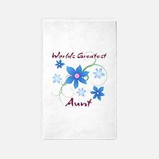 World's Greatest Aunt (Flowery) 3'x5' Area Rug