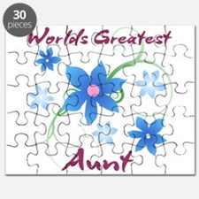World's Greatest Aunt (Flowery) Puzzle