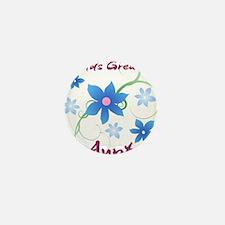 World's Greatest Aunt (Flowery) Mini Button