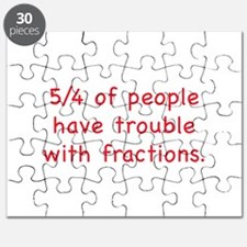 5/4 Of People Have Trouble With Fractions Puzzle