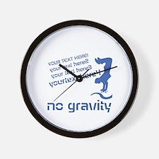 Skater No Gravity Wall Clock
