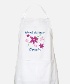 World's Greatest Cousin (Flowery) Apron
