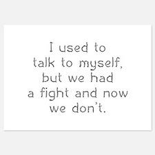 I Used To Talk To Myself Invitations