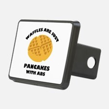 Waffles Are Just Pancakes With Abs Hitch Cover