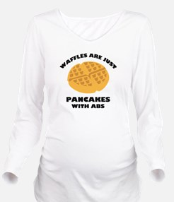 Waffles Are Just Pancakes With Abs Long Sleeve Mat