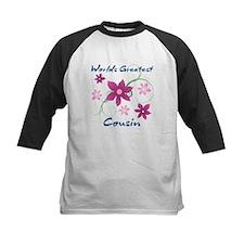 World's Greatest Cousin (Flowery) Baseball Jersey