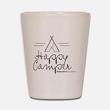 Happy Camper black Shot Glass