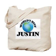 World's Best Justin Tote Bag