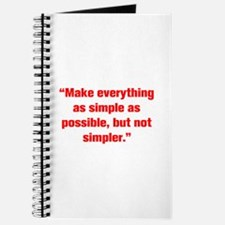 Make everything as simple as possible but not simp