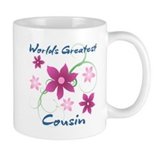World's Greatest Cousin (Flowery) Mugs
