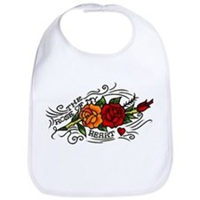 Rose of Heart Tattoo Bib