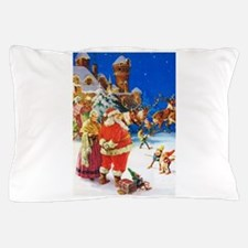 Santa & Mrs. Claus at the North Pole Pillow Case