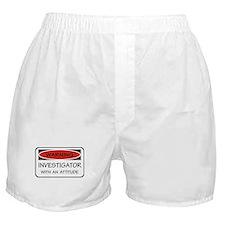 Attitude Investigator Boxer Shorts