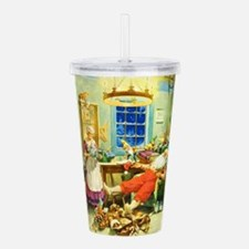 Mrs. Claus and Santa A Acrylic Double-wall Tumbler
