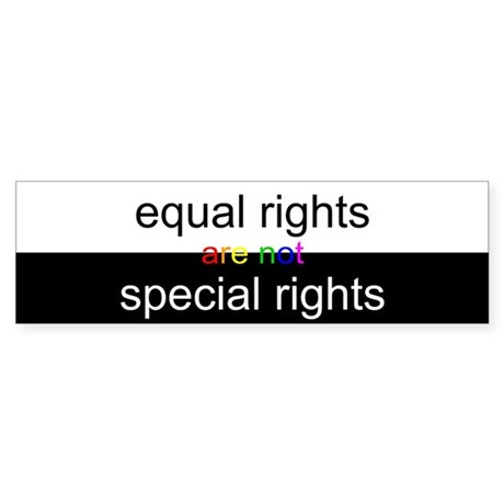Equal Right are not Special Rights