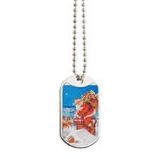 Santa Up On the Rooftop Dog Tags