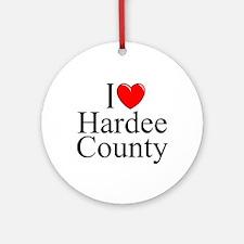 """I Love Hardee County"" Ornament (Round)"