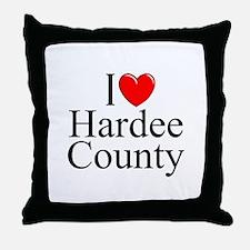 """I Love Hardee County"" Throw Pillow"