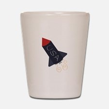 USA Rocket Shot Glass