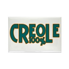 100% Creole Rectangle Magnet