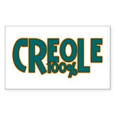 100% Creole Rectangle Decal