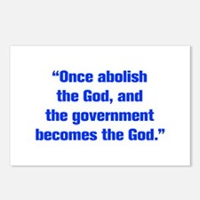 Once abolish the God and the government becomes th