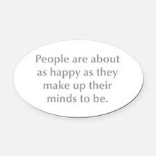 People are about as happy as they make up their mi