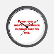Power over a man s subsistence is power over his w