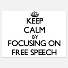 Keep Calm by focusing on Free Speech Invitations