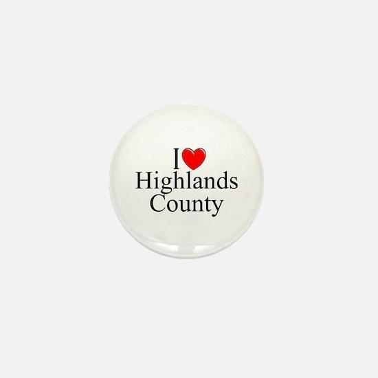"""I Love Highlands County"" Mini Button"