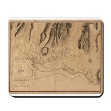 1887. Honolulu Map Mousepad