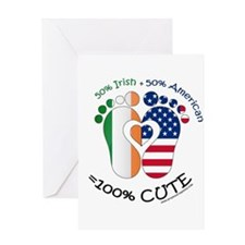 Irish American Baby Greeting Cards