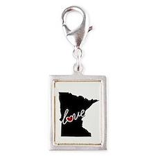 Minnesota Love Silver Portrait Charm