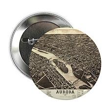 """Aurora IL. Antique map. 2.25"""" Button (100 pack)"""