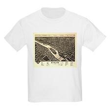 Aurora IL. Antique map. T-Shirt
