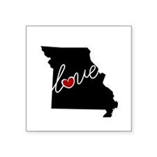 "Missouri Love Square Sticker 3"" x 3"""