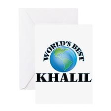 World's Best Khalil Greeting Cards