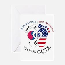 Korean American Baby Greeting Cards