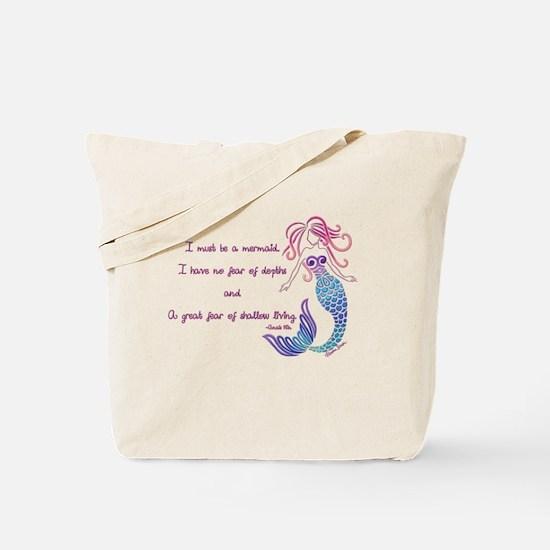 Tribal Mermaid Musings Tote Bag